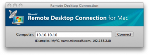 Remote Desktop Connection Mac OS X
