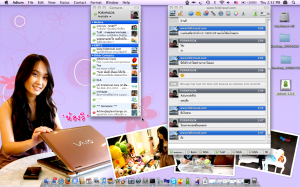 MacBook Alu 2.4GHz (Limited) Desktop Setup 2009-07-23